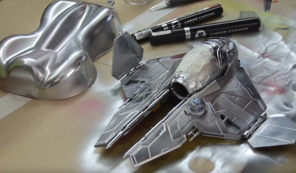 LIQUID CHROME x AIRBRUSH STEP BY STEP