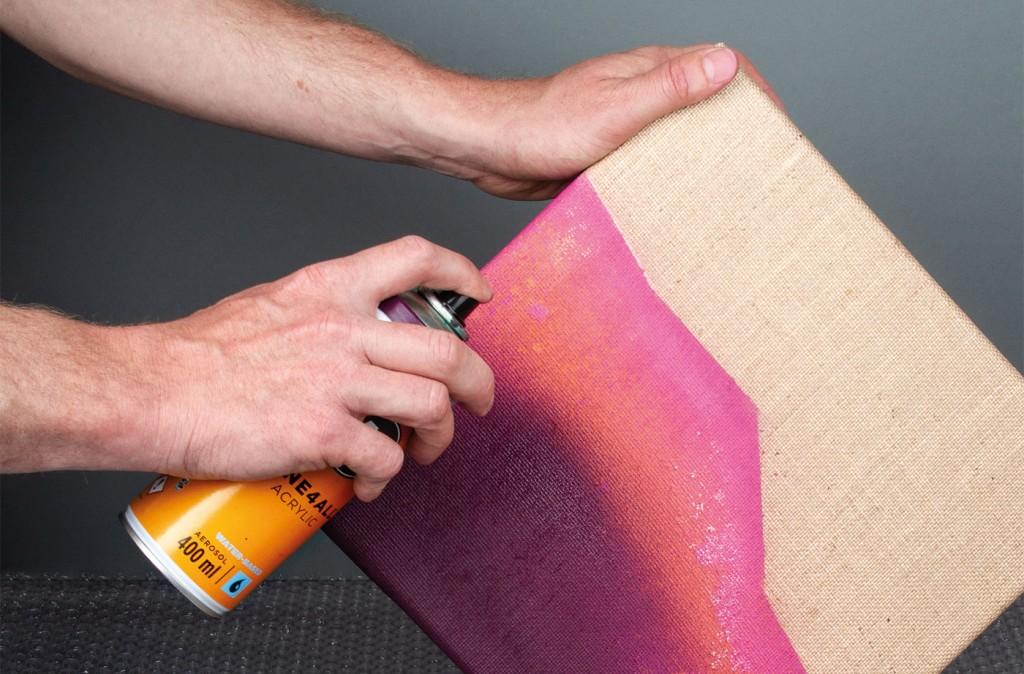 ONE4ALL sprej lze použít na vlněné plátno