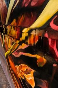 Detail malby na Modřanském cukrovaru