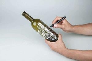 Použití fixy Liquid Chrome na sklo