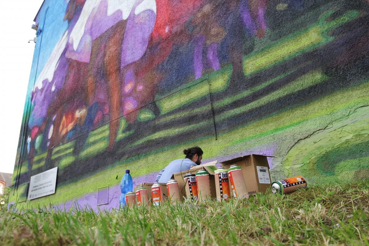 První mural v Martine – KRUH