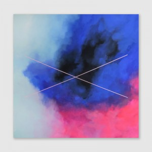 """Hass/Liebe"" (150x150cm) acrylic paint on canvas"