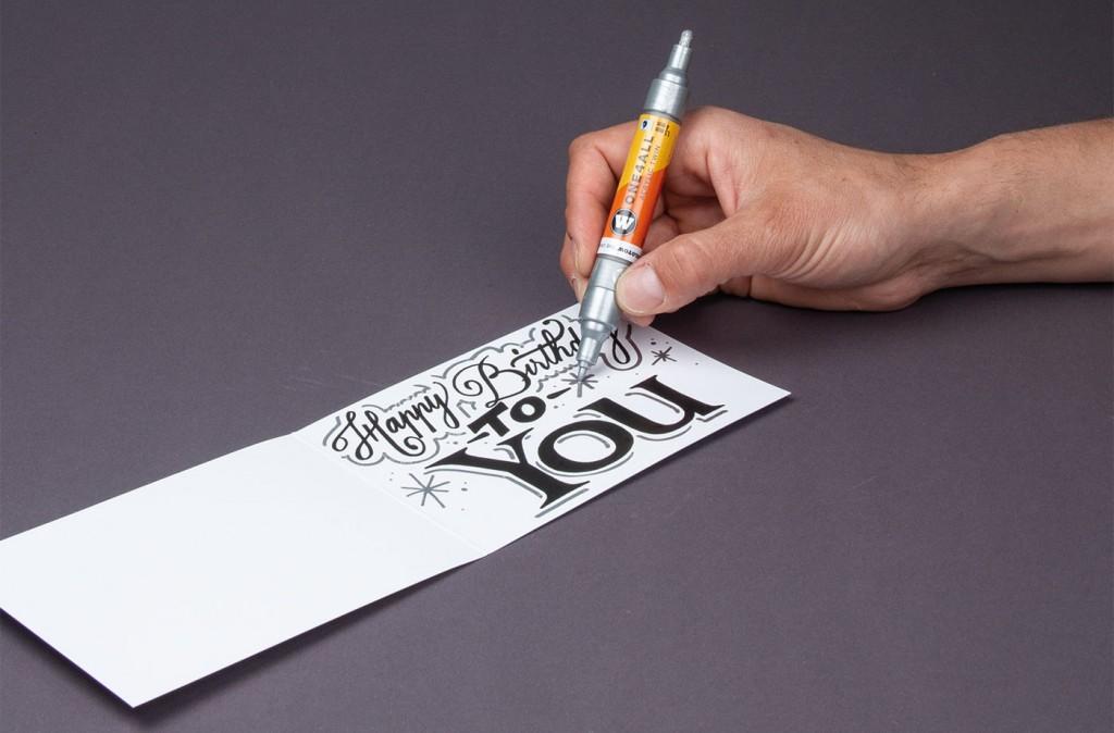 Použití Twin oboustranné ONE4ALL akrylické fixy na papíře