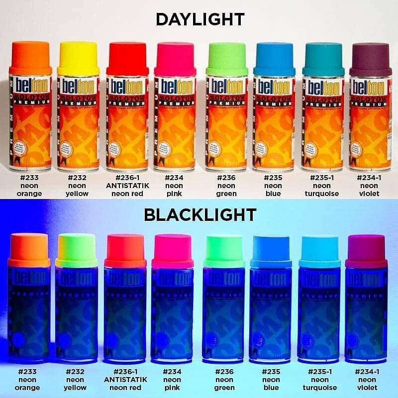 Molotow Premium Neon UV Fluorescent blacklight color